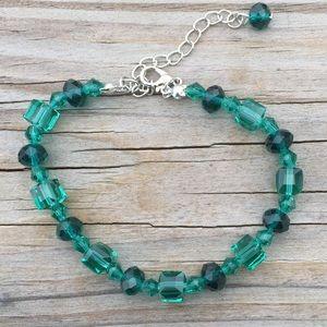 Austrian sparkling dark green crystal bracelet